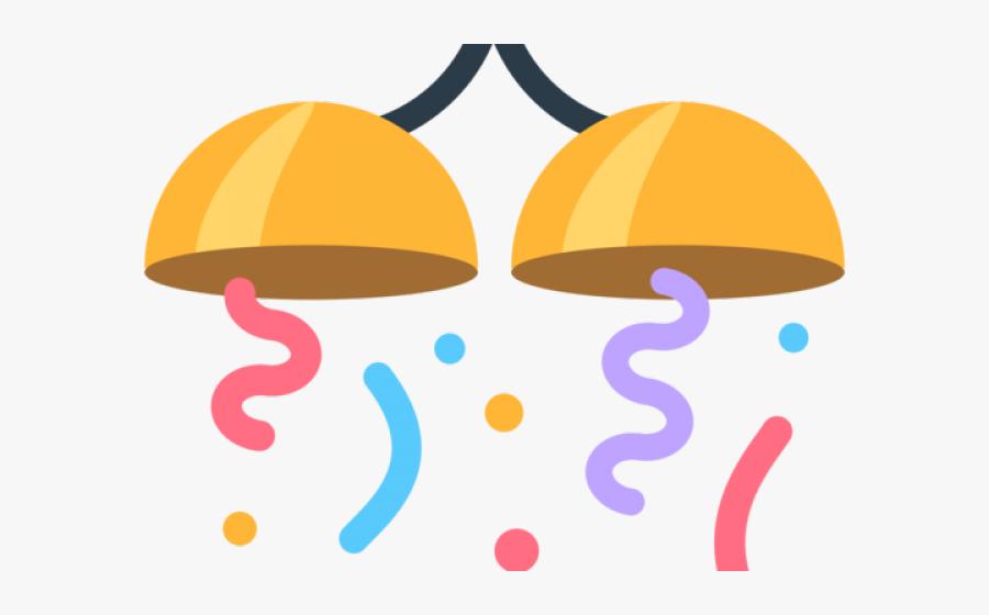 Transparent Confetti Clip Art - Confetti Emoji Png Transparent Background, Transparent Clipart