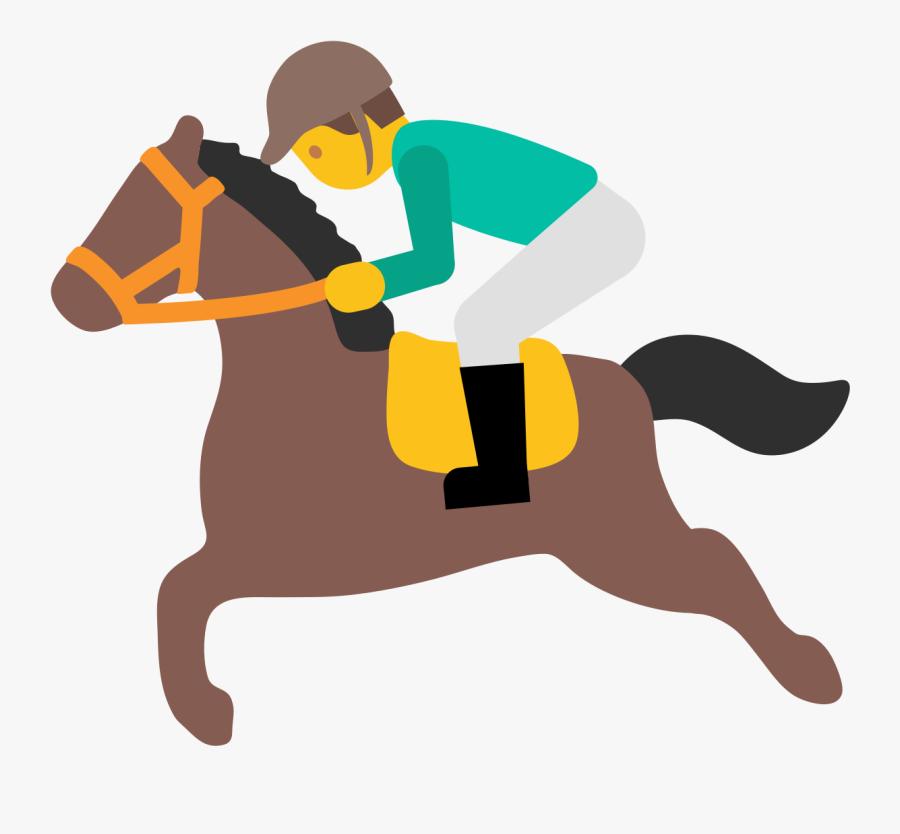 File - Emoji U1f3c7 - Svg - Race Horse Emoji Transparent - Horse Riding Emoji Png, Transparent Clipart