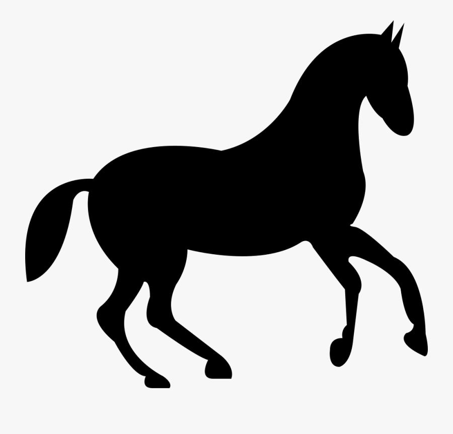 Dancing Race Black Horse Comments - Horse Stencil, Transparent Clipart