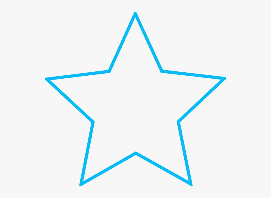 Small Star Outline Clip Art - Star Shape, Transparent Clipart