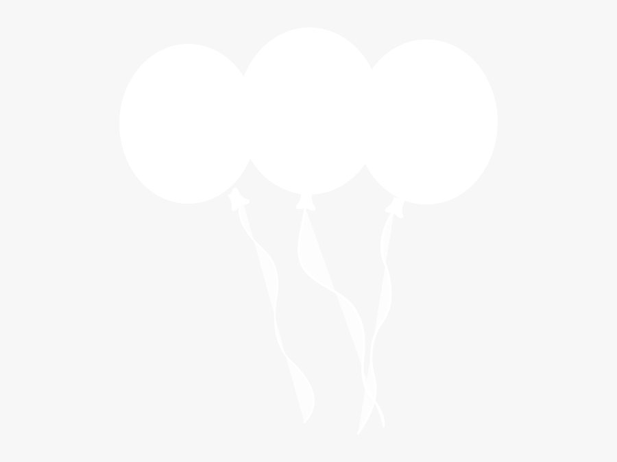 White Balloon Black Background, Transparent Clipart