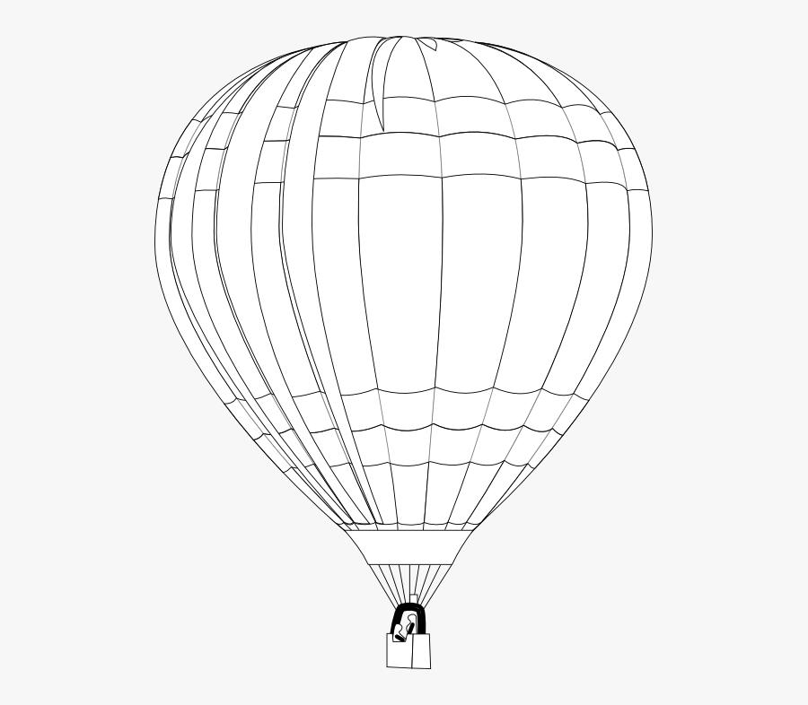 Balloon Balloon Black White Line Art 555px - Balloon, Transparent Clipart