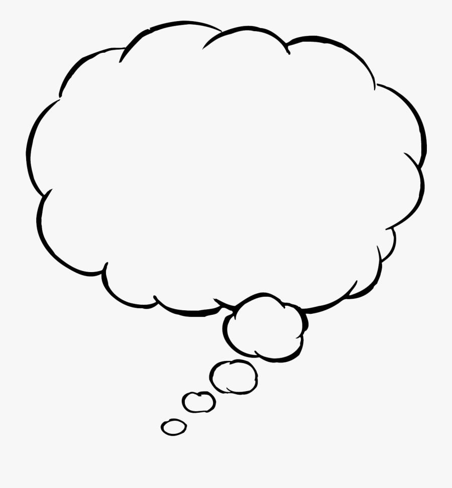 Speech Balloon Clip Art - Transparent Background Thought Bubble Png, Transparent Clipart
