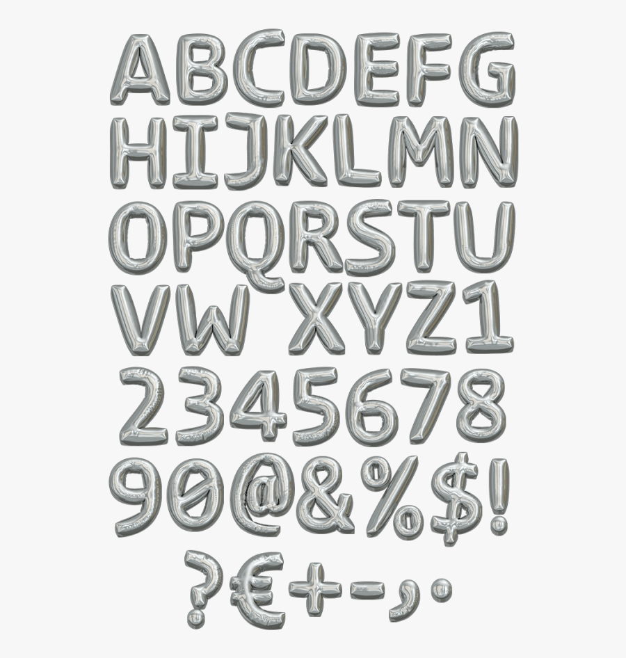 Clip Art Letters Png For - Balloon Font Png, Transparent Clipart