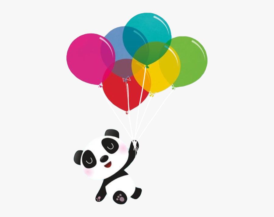 #panda #balloon #balloons #colors #smile #cute #flyingpanda - Pandas Bebes Fondo De Pantalla, Transparent Clipart
