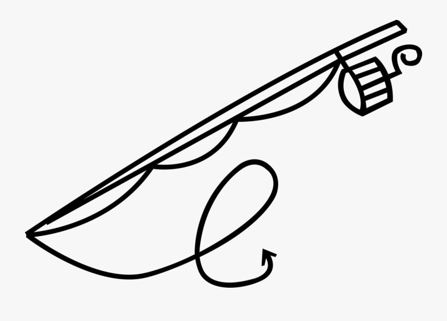 "Vector Illustration Of Sport Fisherman Angler""s Fishing - Canna Da Pesca Vettoriale, Transparent Clipart"