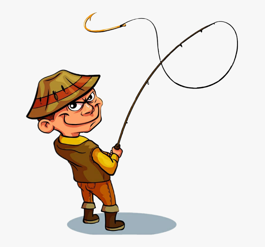 #fisherman #rod #sticker - Pescador Dibujo A Color, Transparent Clipart