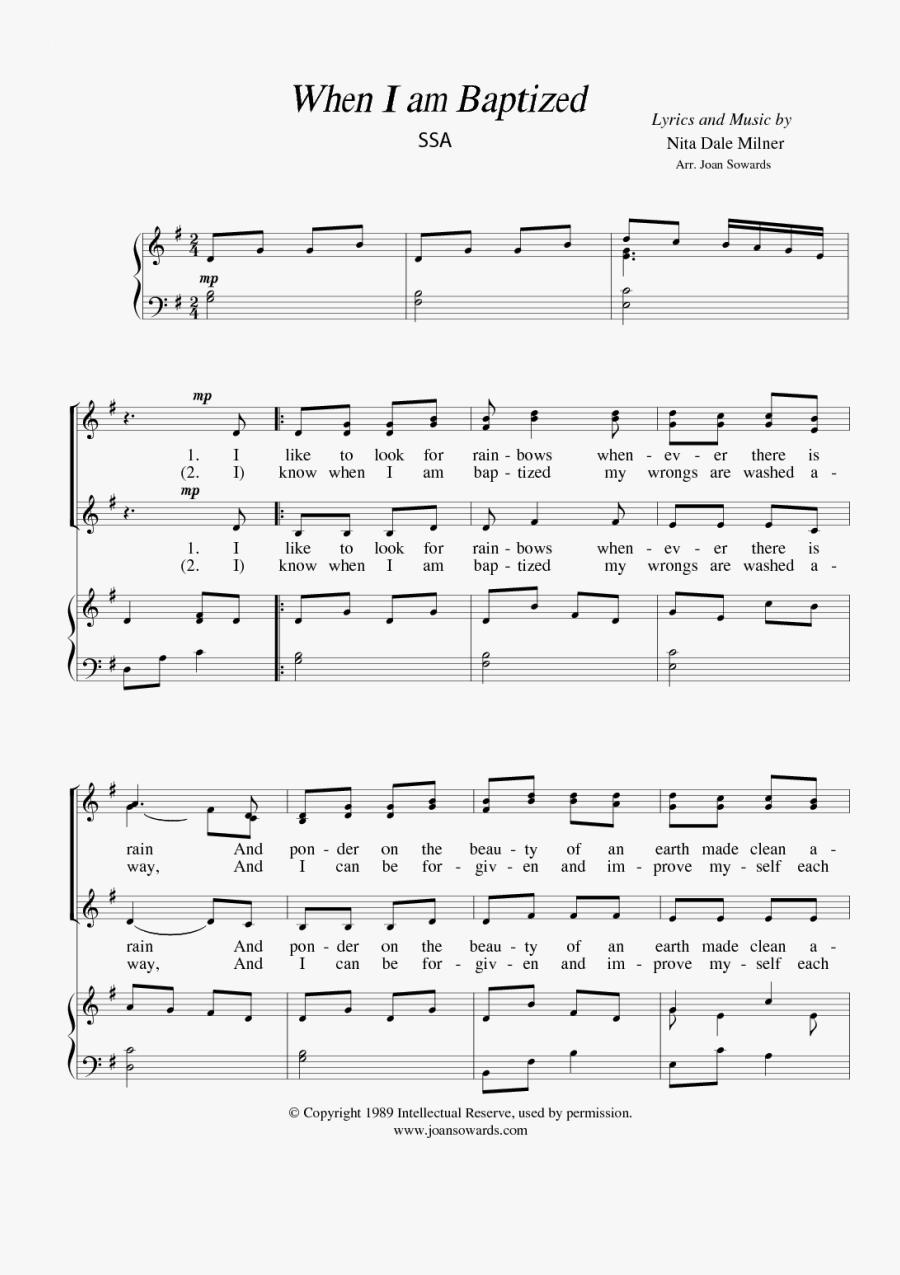 Sheet Music Picture - Am Baptized Flute Sheet Music, Transparent Clipart
