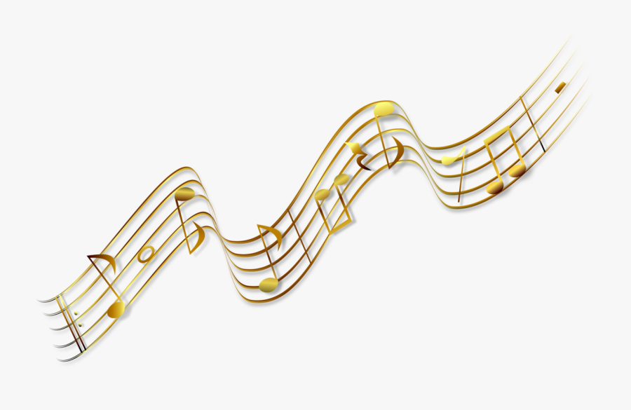 Angle,area,text - Gold Music Notes Transparent, Transparent Clipart