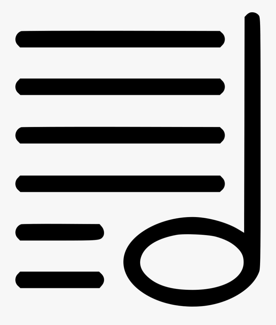 Notes Music Sheet Music Composition - Music Sheet Icon Png, Transparent Clipart