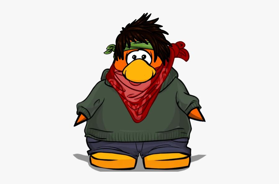 Club Penguin Kermit Outfit, Transparent Clipart