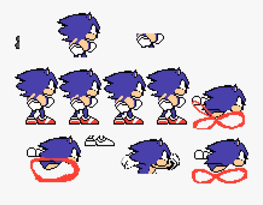 Sonic Transparent Sprite Sheet, Transparent Clipart