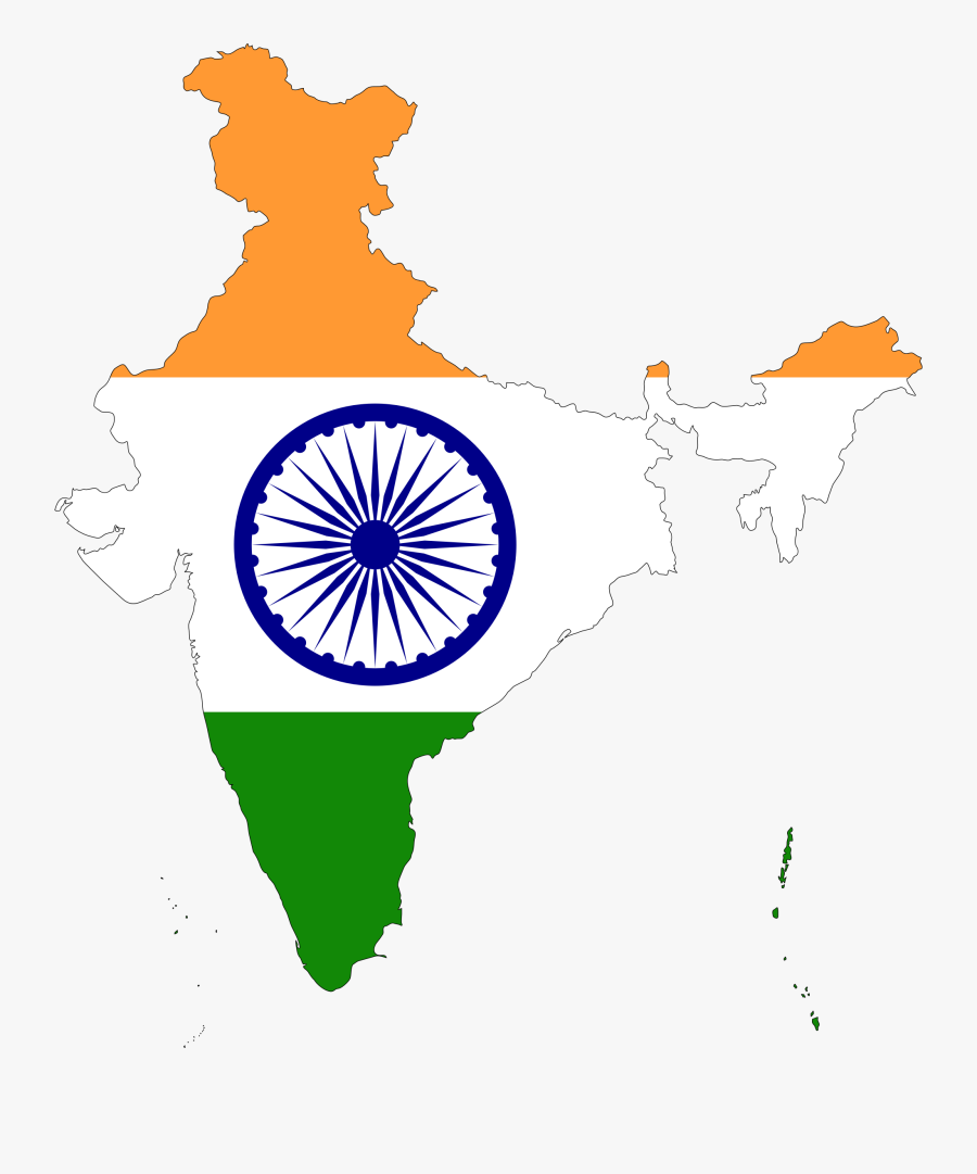 India Map Flag - India Country With Flag, Transparent Clipart
