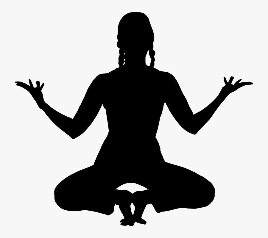 Meditation Yoga Silhouette Exercise Female Fitness Meditation 4k Free Transparent Clipart Clipartkey