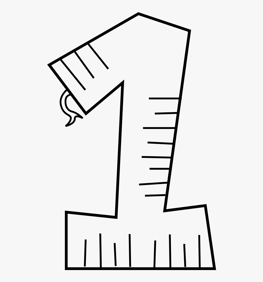 Free Vector Animal Number One Line Art - One Coloring Page, Transparent Clipart