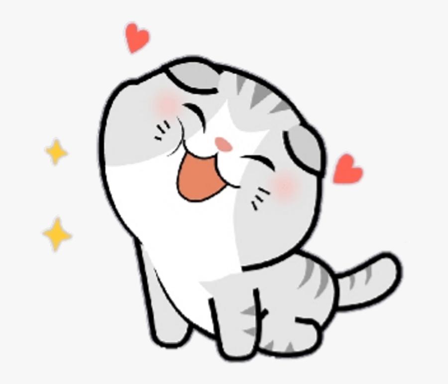 #cute #kawaii #mochi #pitu #meitu #line #linefriends - Stickers Kawaii Png, Transparent Clipart