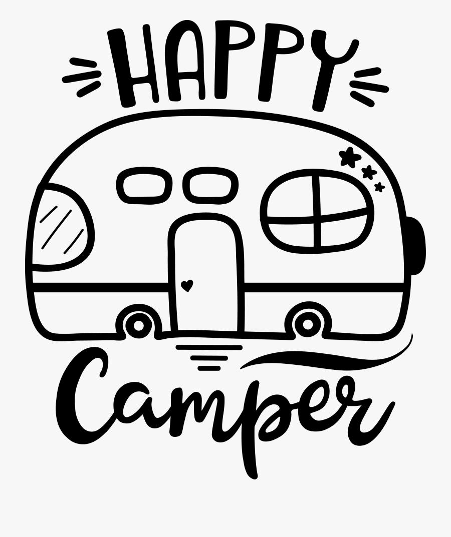 Happy Camper Svg Free, Transparent Clipart