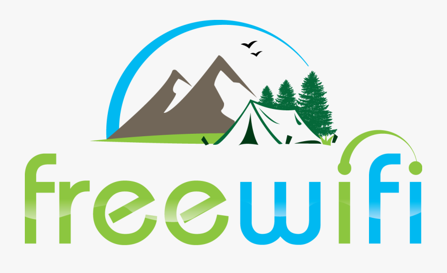 Happy Camper Wifi Logo - Illustration, Transparent Clipart