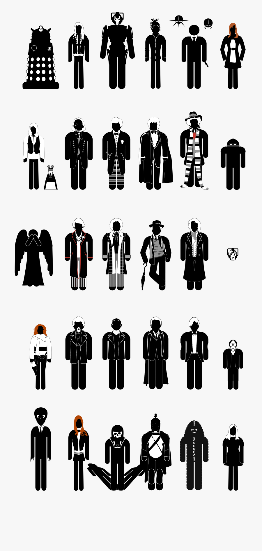 Doctor Who Doctors 1 13, Transparent Clipart