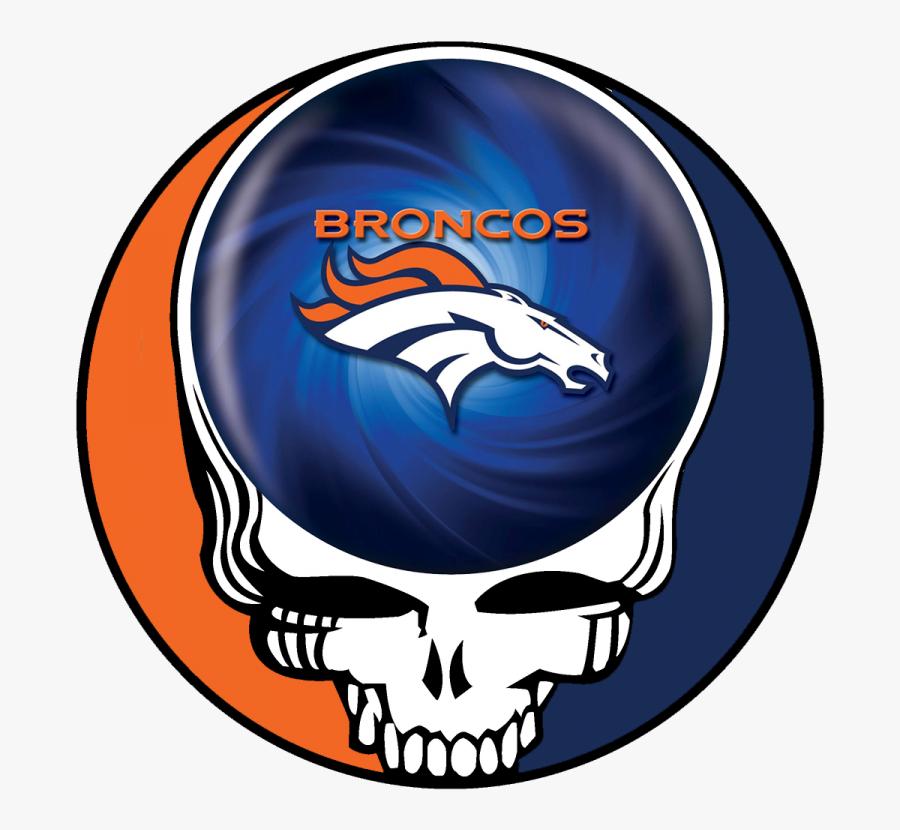 Denver Broncos Skull Logo Iron On Stickers Heat Transfer - Grateful Dead Logo, Transparent Clipart