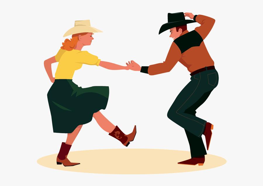 Wild West Clipart Transparent - Clip Art Square Dancing, Transparent Clipart