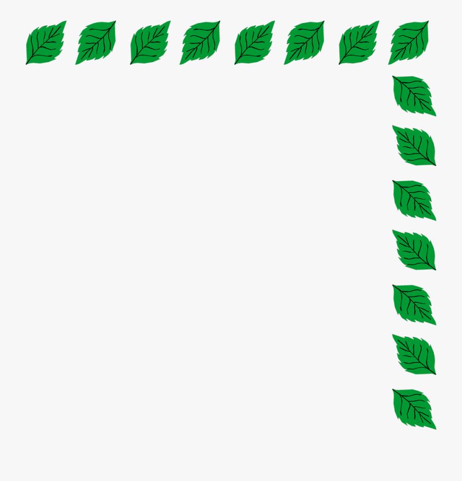 Green Leaf Border Png Download - Green Leaf Border Clipart, Transparent Clipart