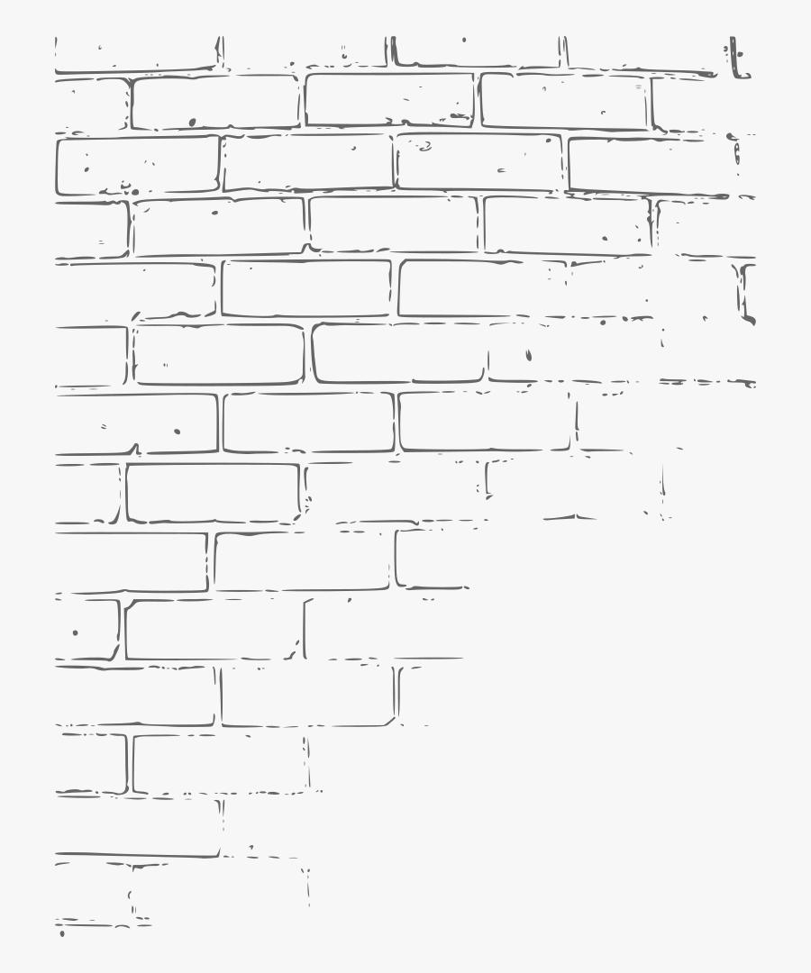 Brick Wall Texture - Brick Wall Sketch Illustration, Transparent Clipart