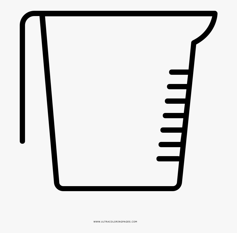 Measuring Cup Coloring Page, Transparent Clipart
