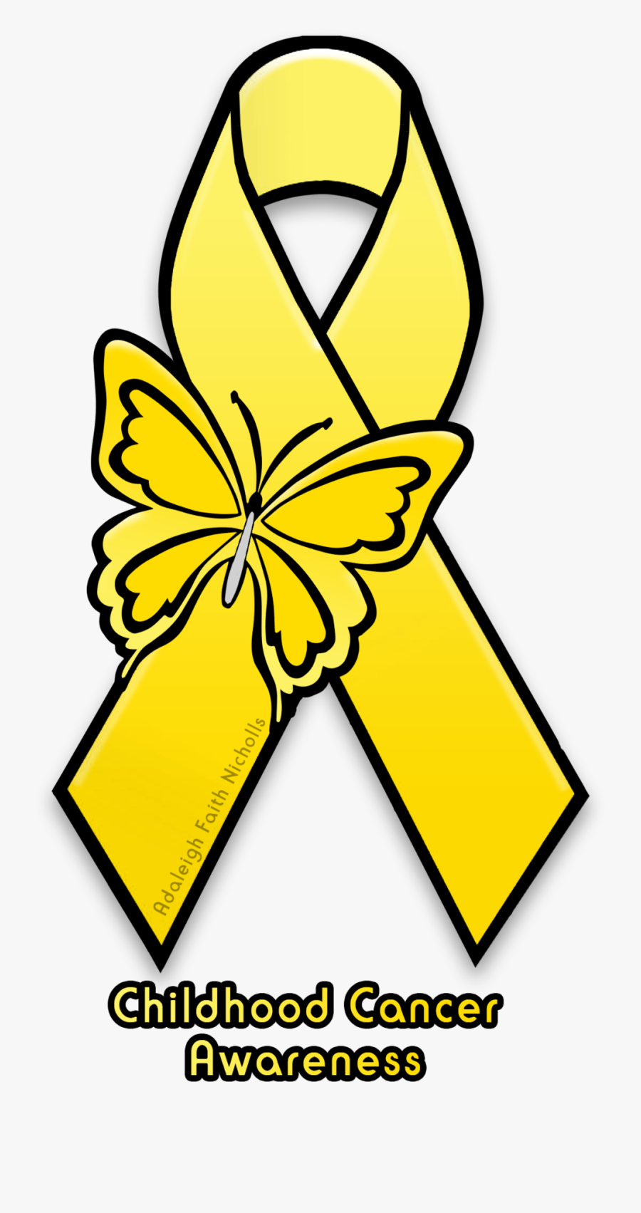 Adaleighfaith 8 2 Childhood Cancer Awareness Ribbon - Mental Health Awareness Symbols, Transparent Clipart