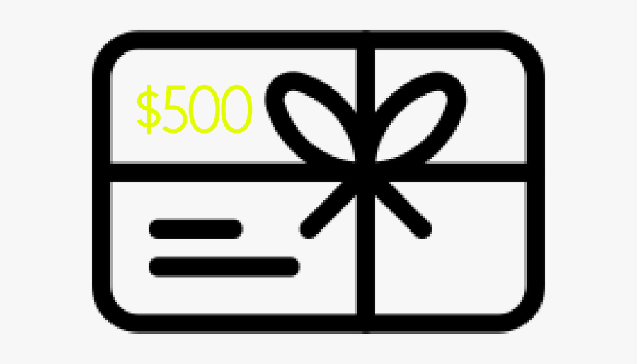 $500 - Gift Card, Transparent Clipart