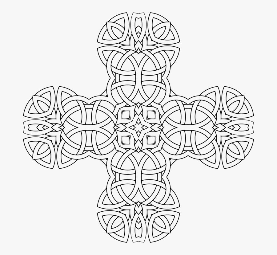 Line Art,symmetry,visual Arts - Coloring Sheet Intricate Mandala, Transparent Clipart
