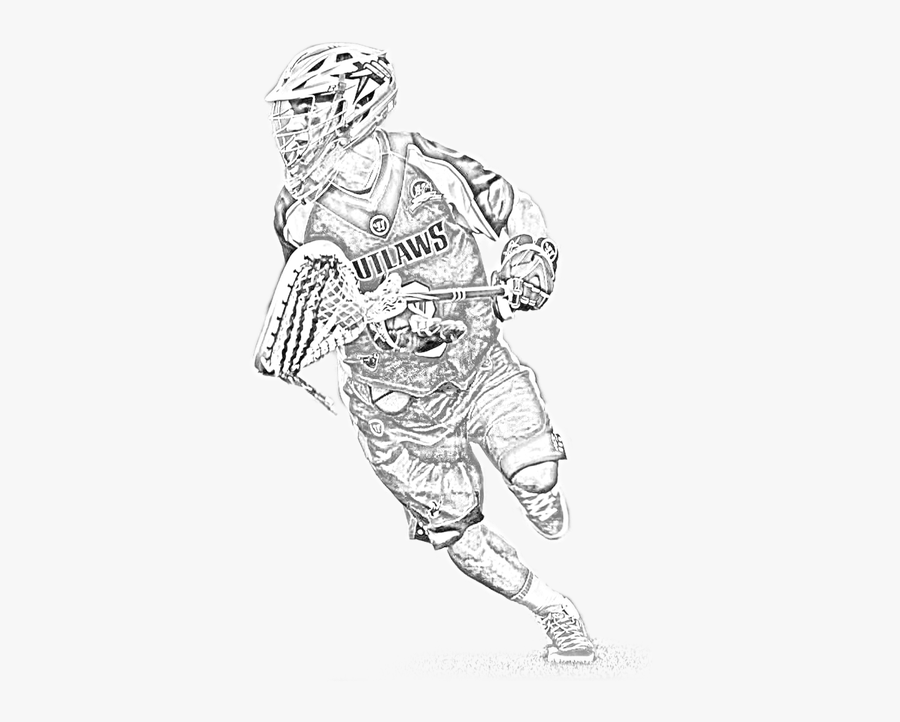 Collection Of Lacrosse Goalie Drawing High Quality, - Sketch, Transparent Clipart