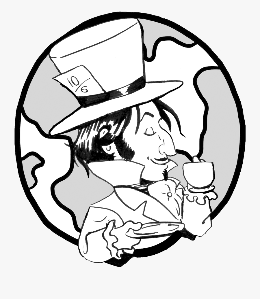 Transparent Mad Hatter Clipart Simple Earth Clipart Black And White Free Transparent Clipart Clipartkey