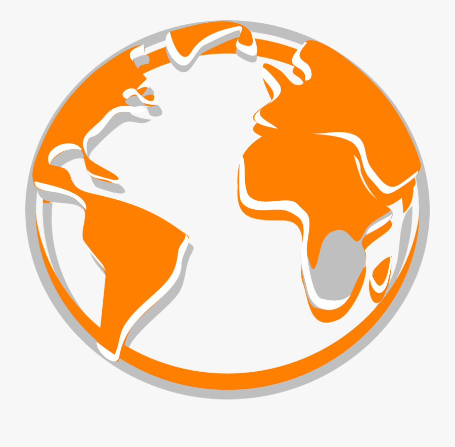 Transparent The Earth Png - Globe World Logo Orange, Transparent Clipart