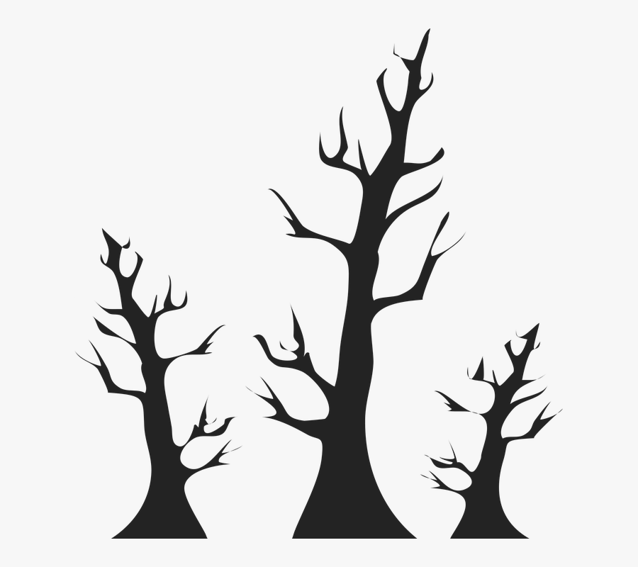 Trees, Arbor, Earth Day, Black, Plant, Earth - Hari Bumi Vektor Png, Transparent Clipart