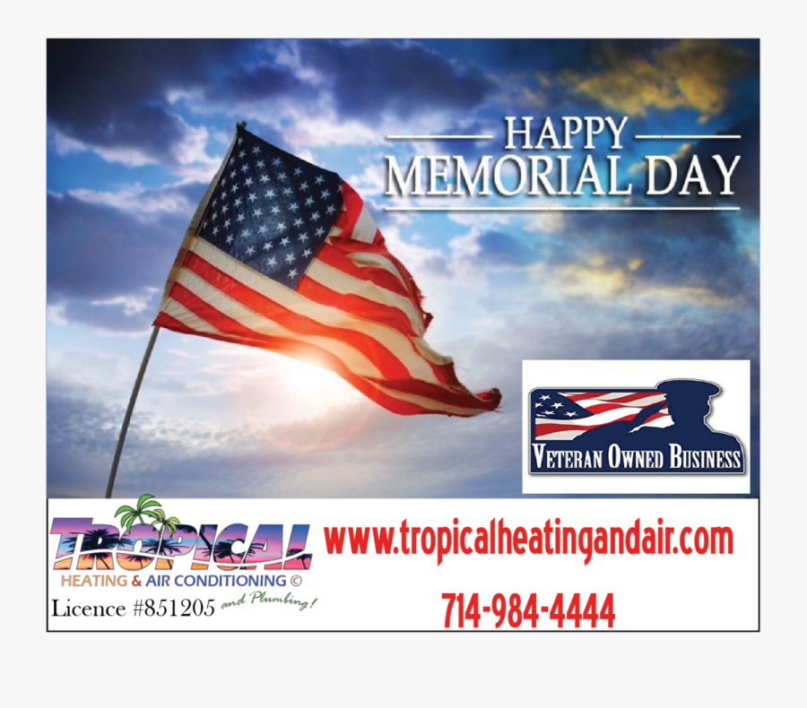 American Flag In Mountains, Transparent Clipart