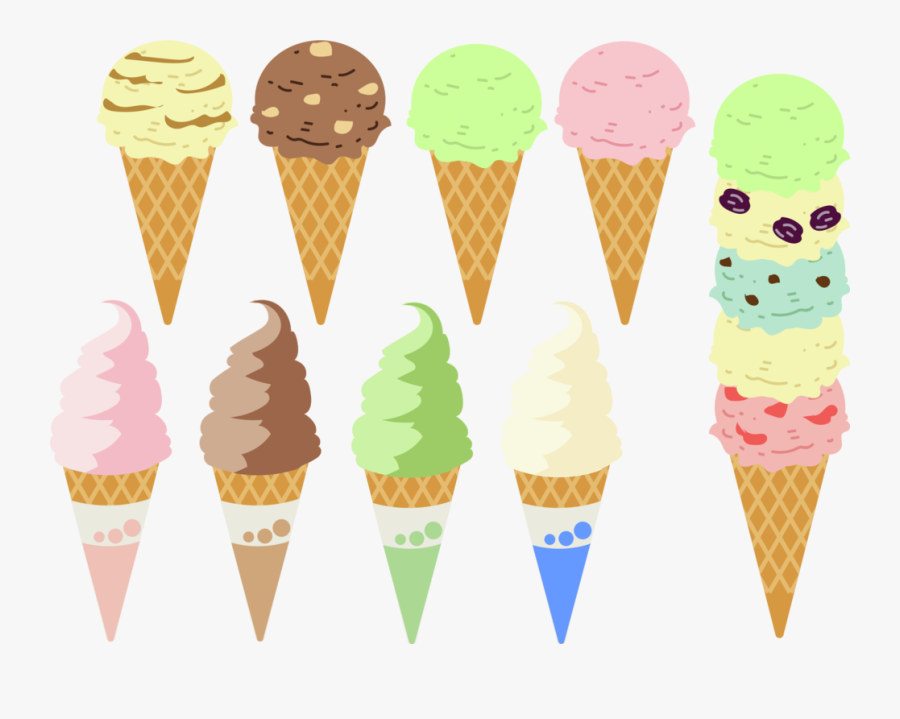 Dairy Product,ice Cream Cone,food - アイス クリーム イラスト フリー, Transparent Clipart