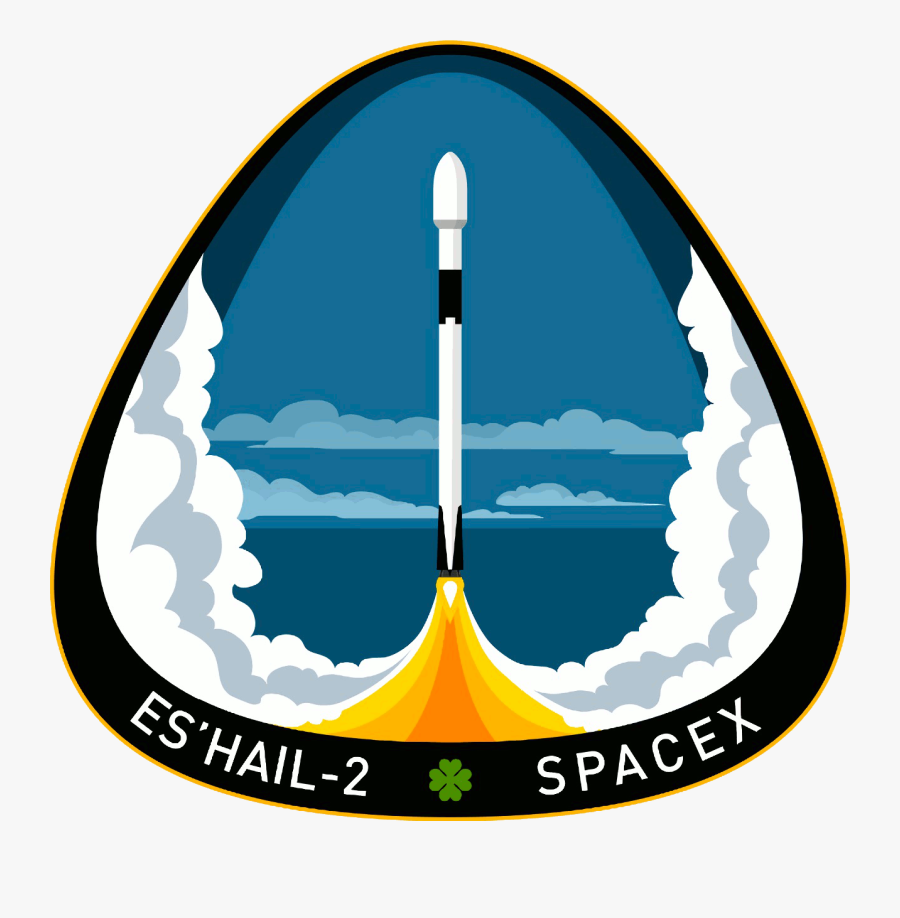 """Spacex Es'hail 2 Mission Patch""""  Data Large Image=""""//cdn - Spacex Es Hail Mission Patch, Transparent Clipart"""