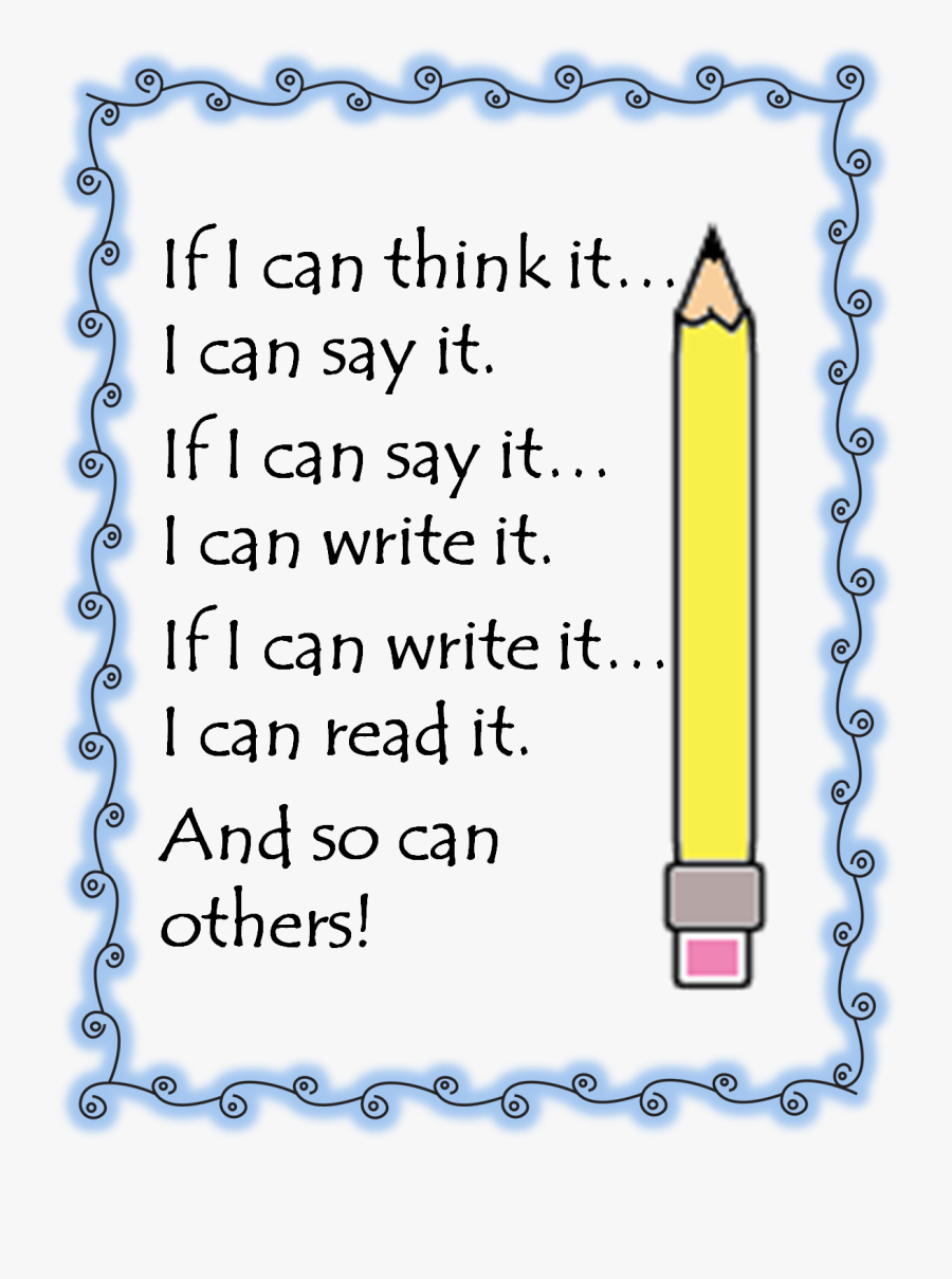 If I Can Think It Poster Write, Transparent Clipart
