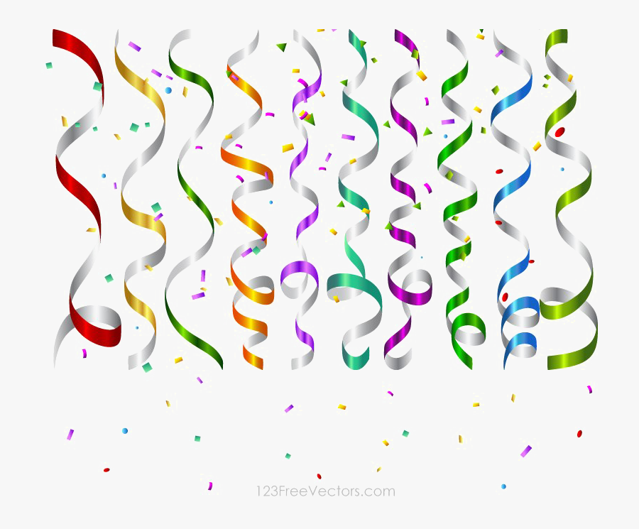 Celebration Png Picture - Confetti Birthday Party Background, Transparent Clipart