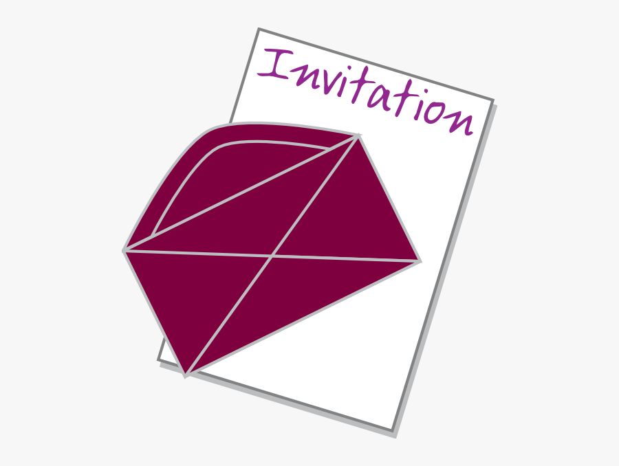 Clip Art Of Invitation Card, Transparent Clipart