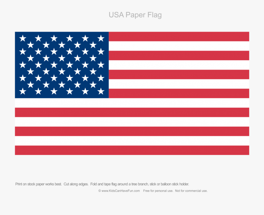 Paper American Flag Writing Paper - Us And Uk Flag, Transparent Clipart