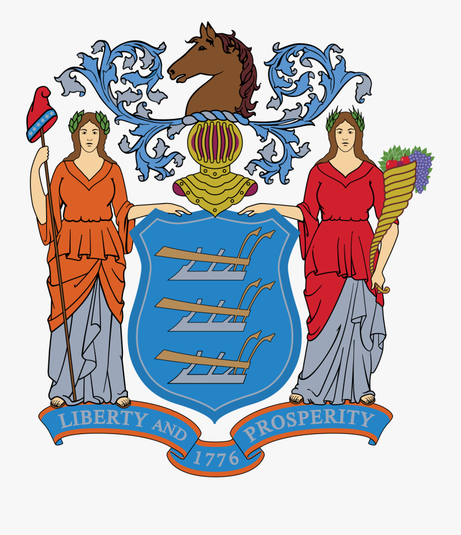 Seal New Jersey Flag, Transparent Clipart