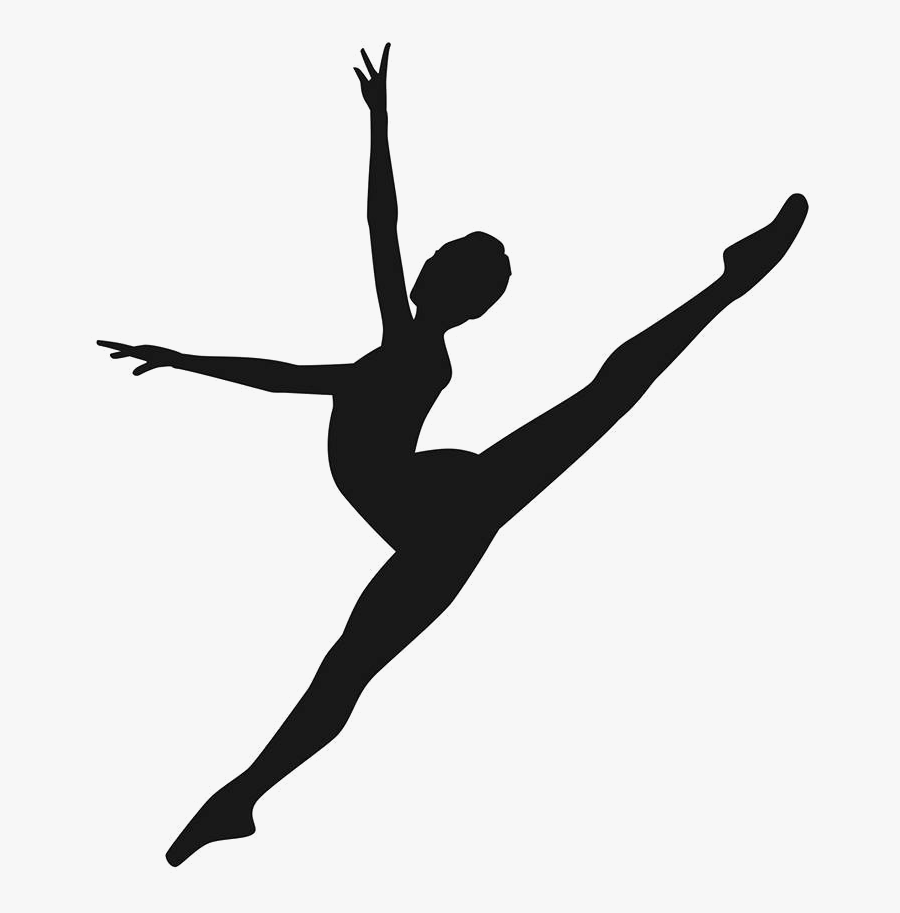 Modern Dance Silhouette Contemporary Dance Ballet Dancer - Contemporary Lyrical Dance Dance Silhouette, Transparent Clipart