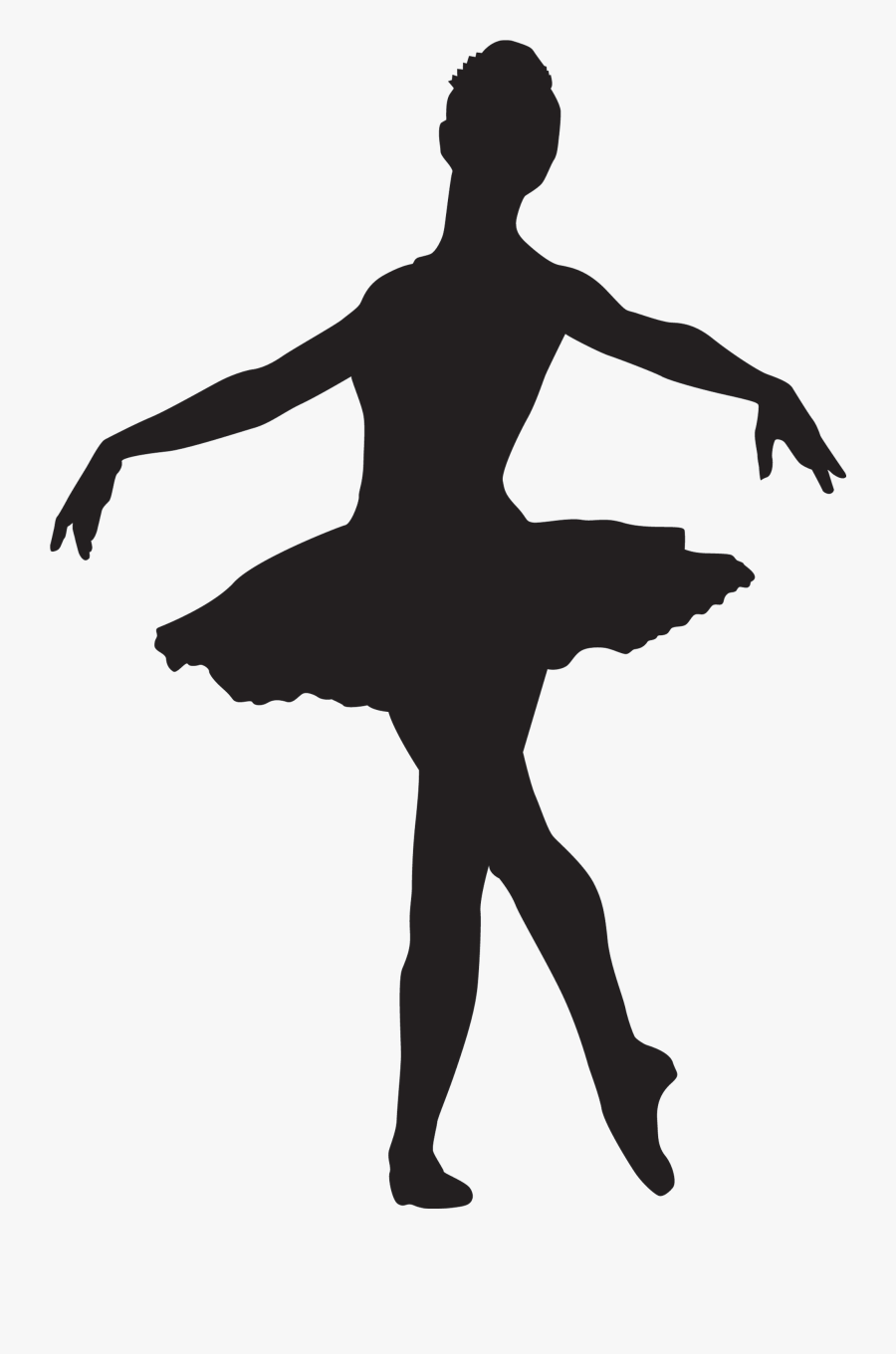 Ballet Dancer Silhouette Download Hq Png Clipart - Dancing Girl Silhouette Ballet, Transparent Clipart