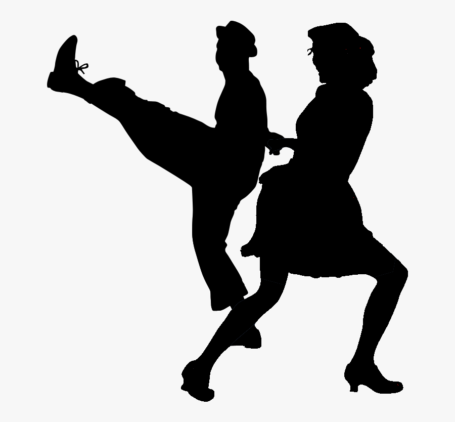 Swing Dance Styles - Swing Dancing Silhouette Png, Transparent Clipart