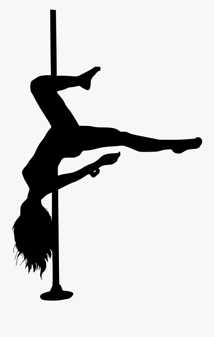 Clip Art Dancer Silhouette Png - Pole Dancer Silhouette Free, Transparent Clipart