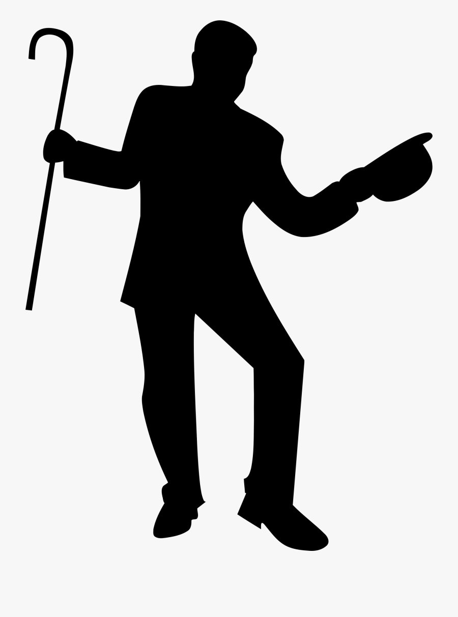 Dancer With Cane Silhouette - Dancing Silhouette Cane, Transparent Clipart