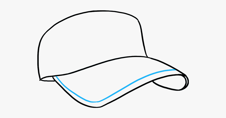 How To Draw Baseball Cap - Hat Drawing, Transparent Clipart