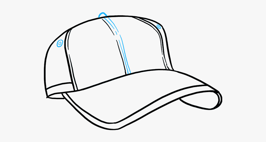 How To Draw Baseball Cap - Snapback Drawing, Transparent Clipart
